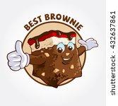 brownie cute cartoon character  ... | Shutterstock .eps vector #432637861