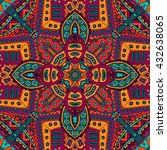 abstract tribal vintage ethnic... | Shutterstock . vector #432638065