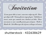 vintage invitation. vector... | Shutterstock .eps vector #432638629