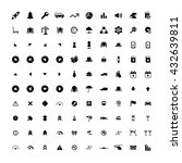 set of 100 universal icons.... | Shutterstock . vector #432639811