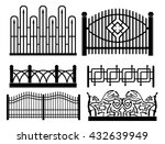 design of iron railings and... | Shutterstock .eps vector #432639949