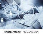 businessman working loft new... | Shutterstock . vector #432641854