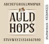 vintage alphabet vector font.... | Shutterstock .eps vector #432644221