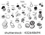 fruits graphic vector set | Shutterstock .eps vector #432648694
