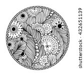 round coloring book page design ... | Shutterstock .eps vector #432651139