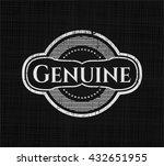 genuine chalk emblem | Shutterstock .eps vector #432651955