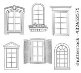 window set. windows of... | Shutterstock .eps vector #432653575