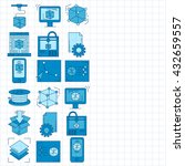 vector doodle icons 3d printing | Shutterstock .eps vector #432659557