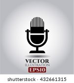 microphone icon vector symbol... | Shutterstock .eps vector #432661315
