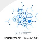 seo mechanism concept. abstract ... | Shutterstock .eps vector #432664531