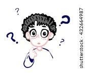 cartoon style bewildered... | Shutterstock .eps vector #432664987