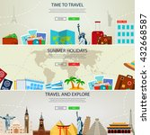 travel and tourism concept...   Shutterstock .eps vector #432668587