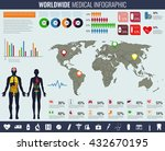 medical infographic set with... | Shutterstock .eps vector #432670195