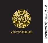 vector abstract logo design... | Shutterstock .eps vector #432675655