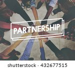 partner partnership team unity... | Shutterstock . vector #432677515