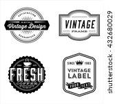 vintage label designs   set of... | Shutterstock .eps vector #432680029