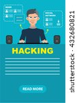 computer hacker in action.... | Shutterstock .eps vector #432680821