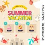 summer illustration  | Shutterstock .eps vector #432684439