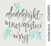alphabet letters  lowercase ... | Shutterstock .eps vector #432685891
