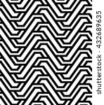 the geometric pattern with... | Shutterstock .eps vector #432689635
