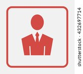 user icon of man in business...