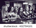beautiful girls having fun at a ... | Shutterstock . vector #432704101