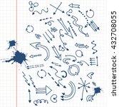 various arrows on notebook... | Shutterstock .eps vector #432708055
