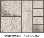 grunge textures set. old... | Shutterstock .eps vector #432709159