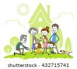 illustration material  family... | Shutterstock .eps vector #432715741