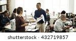 business people meeting... | Shutterstock . vector #432719857