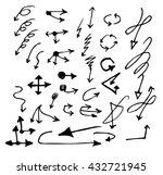vector hand drawn arrows set... | Shutterstock .eps vector #432721945