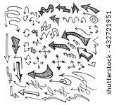 vector hand drawn arrows set... | Shutterstock .eps vector #432721951