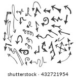 vector hand drawn arrows set... | Shutterstock .eps vector #432721954