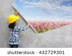 little girl engineering ideas... | Shutterstock . vector #432729301
