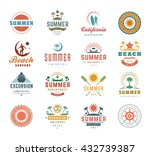 summer holidays design elements ... | Shutterstock .eps vector #432739387