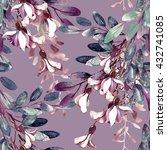 watercolor robinias seamless... | Shutterstock . vector #432741085