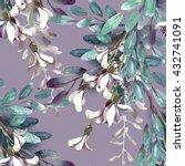 watercolor robinias seamless... | Shutterstock . vector #432741091