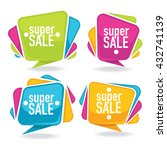 super sale  vector collection... | Shutterstock .eps vector #432741139
