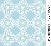seamless white lace on a blue...   Shutterstock .eps vector #432749017