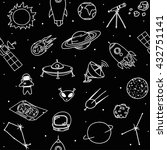 Doodle Seamless Black Pattern...
