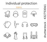 individual protection. set of... | Shutterstock .eps vector #432753061