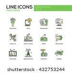 set of modern vector line... | Shutterstock .eps vector #432753244