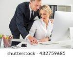 boss touching his colleague | Shutterstock . vector #432759685
