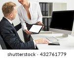 seductive business woman... | Shutterstock . vector #432761779