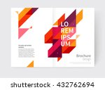 minimalistic white cover... | Shutterstock .eps vector #432762694