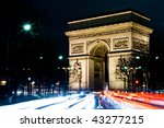 the arc de triomphe   paris | Shutterstock . vector #43277215