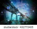 modern transportation and... | Shutterstock . vector #432772405