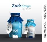 realistic vector design milk... | Shutterstock .eps vector #432776101