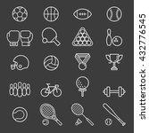 set of sport icons. vector... | Shutterstock .eps vector #432776545