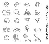 set of sport icons. vector... | Shutterstock .eps vector #432776551